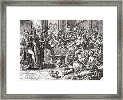 Debauchery And Licentiousness In The 16th Century, After The Painting By Marten De Vos.  From Framed Print by Bridgeman Images