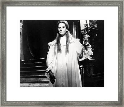 Deborah Kerr In The Innocents  Framed Print