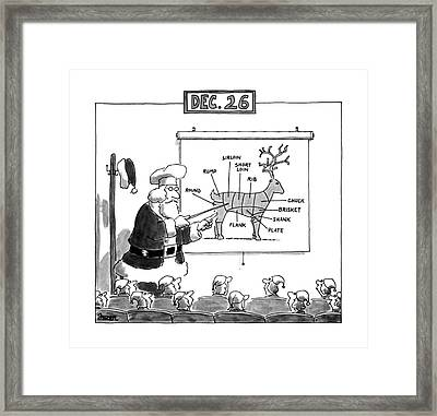 Dec. 26 Framed Print by Jack Ziegler