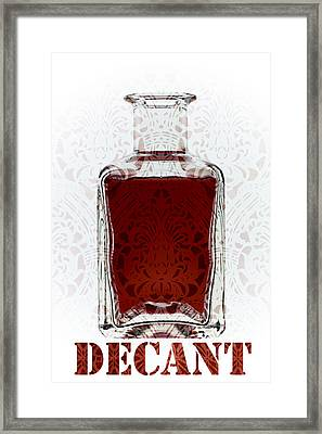 Decant Framed Print