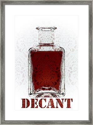 Decant Framed Print by Frank Tschakert