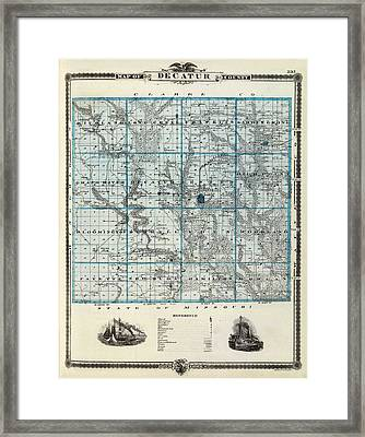 Decatur County Map Framed Print by Gianfranco Weiss
