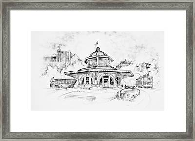 Decatur Transfer House Framed Print by Scott and Dixie Wiley