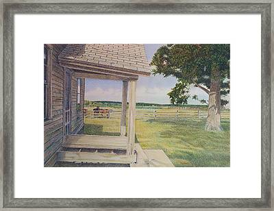 Decayed Farm House Framed Print by Scott Kingery