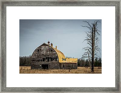 Decaying Barn Framed Print