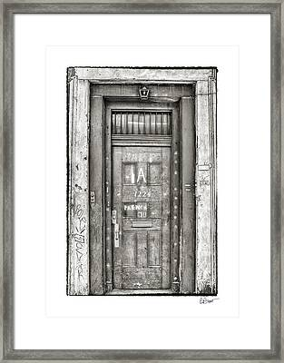 Decaying Beauty In Black And White Framed Print by Brenda Bryant