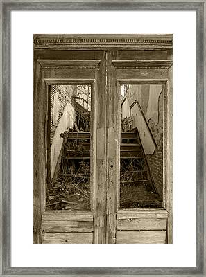Decaying History In Black And White Framed Print