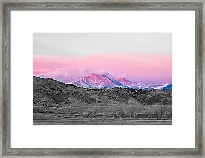 December 16th Twin Peak Sunrise View Bwsc Framed Print by James BO  Insogna