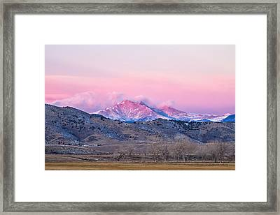 December 16th Twin Peak Sunrise View Framed Print by James BO  Insogna