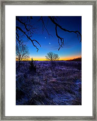 December Blues Framed Print