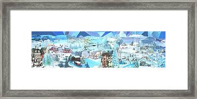 December Evening Landscape - Sold Framed Print by Judith Espinoza