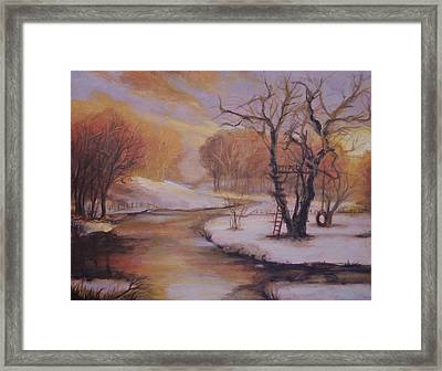 December Evening Framed Print