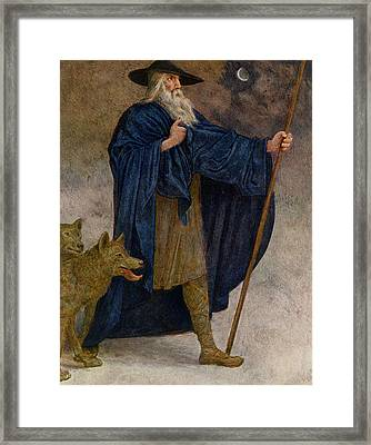 December Framed Print by Hans Thoma