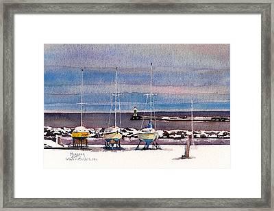 December In Grand Marais Framed Print by Spencer Meagher
