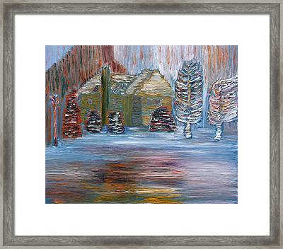 December In Highland New York Framed Print