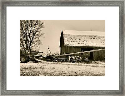 December In The Country Framed Print by Dan Sproul