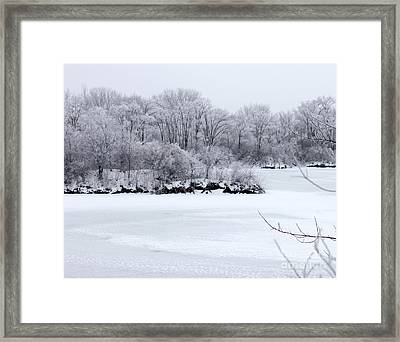 December Lake Framed Print