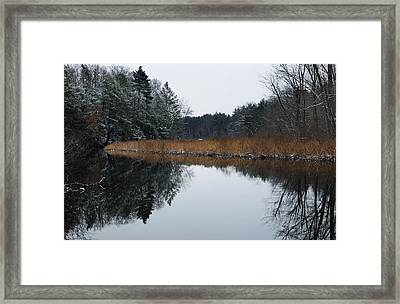 December Landscape Framed Print by Luke Moore