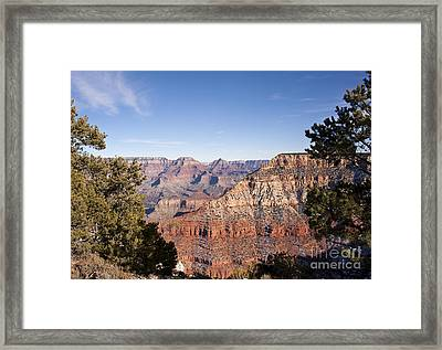 December Light In The Grand Canyon Framed Print by Lee Craig