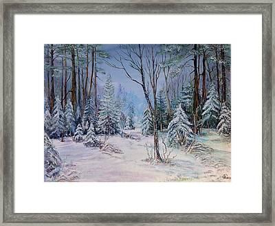 December Light Framed Print by Iya Carson