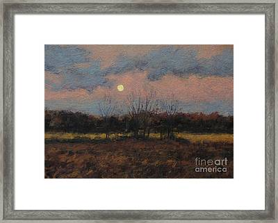 December Moon Framed Print by Gregory Arnett
