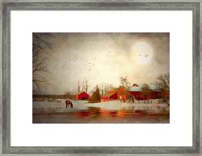 December Moon Framed Print by Michael Petrizzo