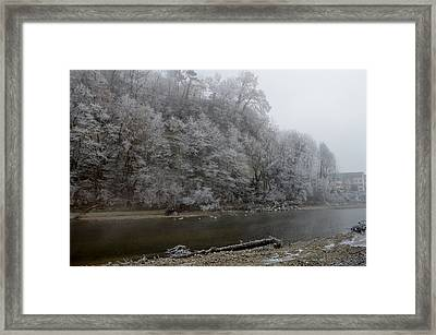 Framed Print featuring the photograph December Morning On The River by Felicia Tica