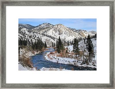 December Nevada Landscape Framed Print by Donna Kennedy