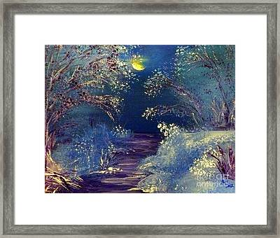 December Night Framed Print by Alys Caviness-Gober