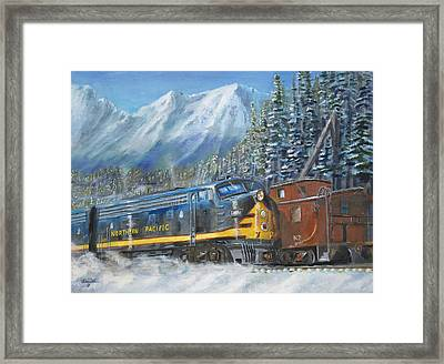 December On Stampede Pass Framed Print by Christopher Jenkins