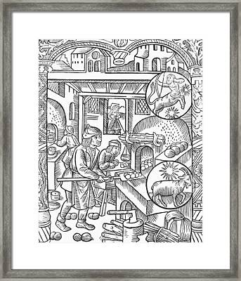 December Framed Print by Pierre Le Rouge