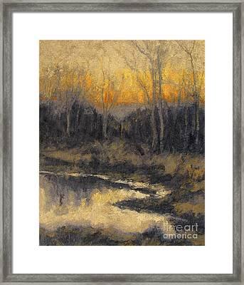 December Reflection Framed Print by Gregory Arnett