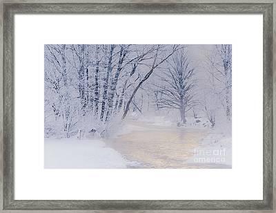 December Riverscape Framed Print by Alan L Graham