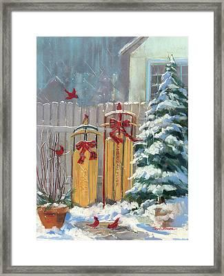 December Sleds Framed Print