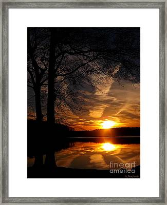 December Sunset Framed Print by Christy Ricafrente