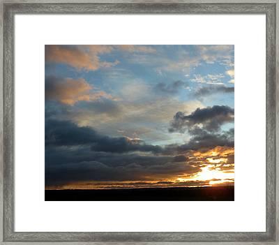 December Sunset Framed Print by Susan Desmore