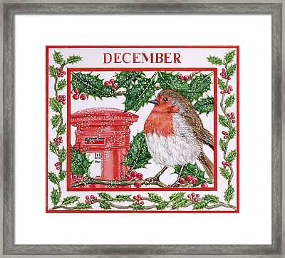 December Wc On Paper Framed Print by Catherine Bradbury
