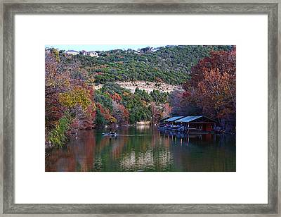 December Winter Scene Framed Print