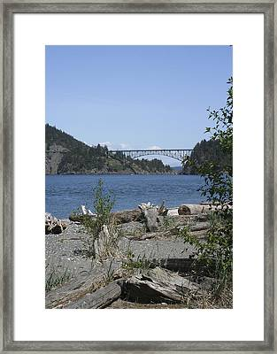 Deception Pass Bridge IIi Framed Print by Mary Gaines