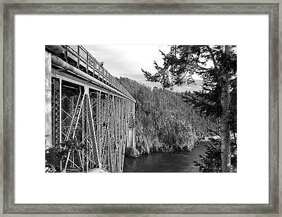 Deception Pass Bridge Framed Print