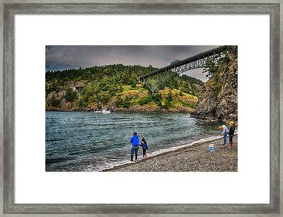 Deception Pass Framed Print by Kelly Reber