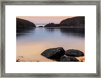 Deception Pass Sunset Framed Print