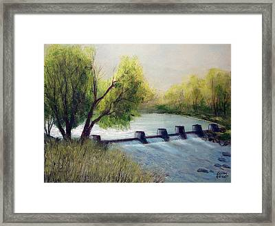 Dechutes River Framed Print by Kenny Henson