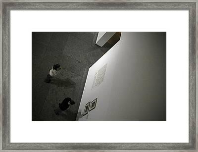 Deciding Framed Print