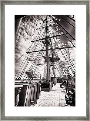 Deck And Masts Framed Print