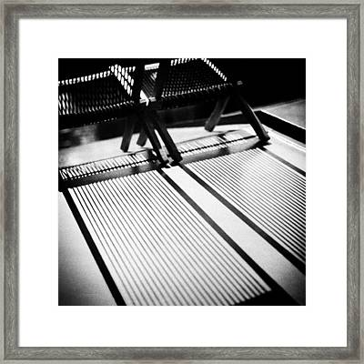 Deck-chairs Framed Print by Dave Bowman