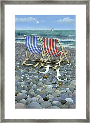 Deck Chairs Framed Print by Peter Adderley