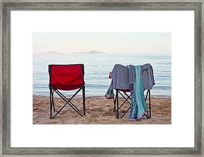 Deck Chairs Framed Print by Tom Gowanlock
