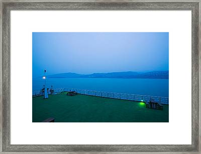 Deck Of The Yangtze River Cruise Ship Framed Print by Panoramic Images
