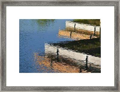 Deck Reflections Framed Print
